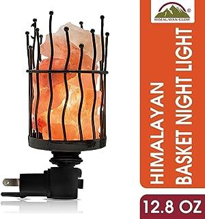 Himalayan Glow Natural Pillar Style Salt Lamp Night Light with Pink Salt Chunks | 360 Degree Rotatable Wall Plug,Himalayan Glow Nightlight Unique Lighting Ambiance