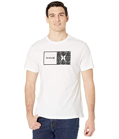 Hurley Natural HD Short Sleeve Graphic T-Shirt (White) Men