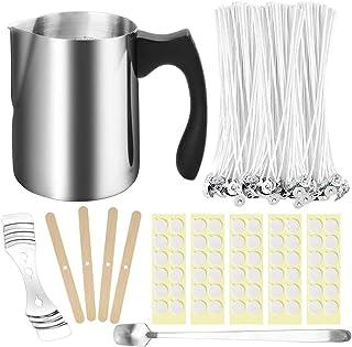 207pcs Candle Making Kit with 100PCS Cotton Candle Wicks, 1PCS Candle Make Pouring Cup, 1pcs Spoon, 100PCS Wicks Sticker, ...