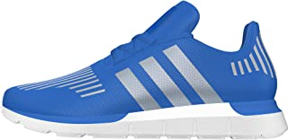 Swift Run J Blue/Metallic Silver Textile Youth Trainers Shoes