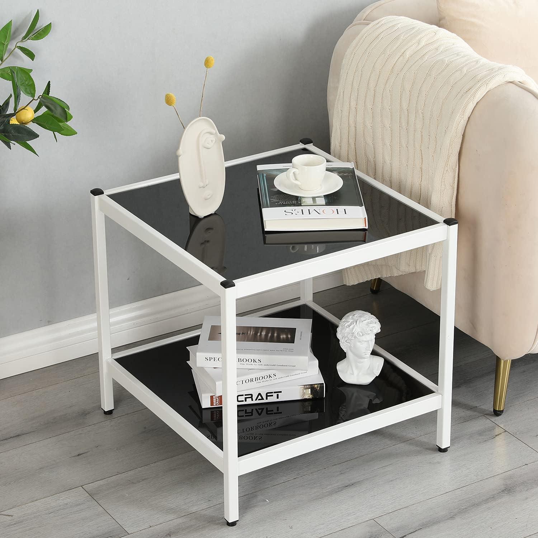 Sales for sale Max 42% OFF Joe Eagle Nikki Minimalistic Glass Table Side End Square