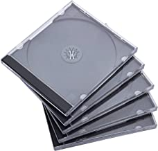 Maxtek 10.4 میلیمتر استاندارد معمولی Single CD Jewel Case with Tray Black Assembly، 50 Pack