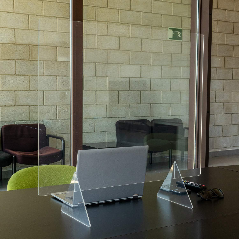 Desconocido Mampara de metacrilato Transparente para Colgar del Techo o de pie en mostrador. Kit de Montaje Incluido. Entrega 48-72 Horas (1200x 650 x 3 mm sin ventanilla): Amazon.es: Hogar