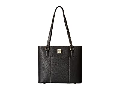 Dooney & Bourke Pebble Small Lexington Shopper (Black/Black) Tote Handbags