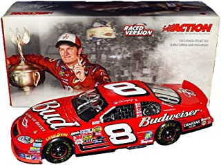 AUTOGRAPHED 2004 Dale Earnhardt Jr. #8 Budweiser Racing BRISTOL WIN (Raced Version) DEI Nextel Cup Series Rare Signed Collectible Action 1/24 NASCAR Diecast Car with COA (1 of only 8,808 produced!)