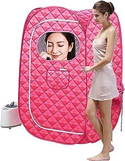WOERD Portable Personal Steam Sauna Spa, Portable Steam Sauna, Steam Saunas for Home Full Body with Steamer Portable Perso...