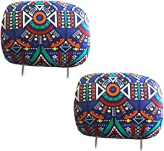 Yupbizauto New Interchangeable Car Seat Headrest Covers Universal Fit for Cars Vans Trucks-Sold by a Pairs (Aztec)