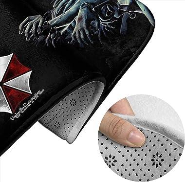 yunyang Resident Evil Umbrella Corporation Tapis de Bain Ensemble de 3 pièces Tapis de Sol + tampons de Contour en Forme US +