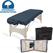 EARTHLITE Portable Massage Table HARMONY DX – Eco-Friendly Design, Hard Maple, Superior Comfort, Deluxe Adjustable Face Cradle, Heavy-Duty Carry Case (30