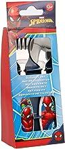STOR 8412497379187 Lot de 2 couverts métalliques Spiderman Graffiti, multicolore