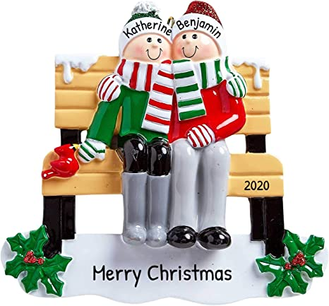 Keepsake Christmas Villages 2021 Amazon Com Personalized Park Bench Family Of 2 Christmas Tree Ornament 2021 Happy Couple Friend Sit Meet Together Decorated Back Yard Holiday Winter Park Tradition Grand Parent Year Gift Free Customization Home