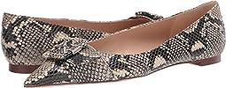 Ecru Multi Exotic Snake Print Leather