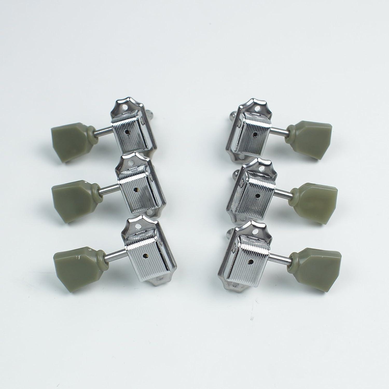 Milwaukee Mall 6 Tuning Keys Tuners New color Head Pegs Chrome keytone Green