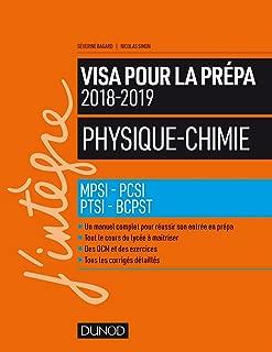 Visa pour la prépa Physique-Chimie : MPSI-PCSI-PTSI-BCPST