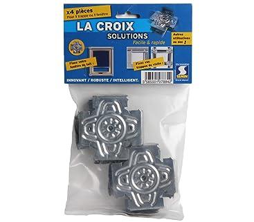 Gaines Techniques et Conduiteset A07884 Croix Solution 500 mm x 500 mm Semin A03620 Trappe M/étallique Laqu/ée Blanche Syst/ème de Fixation