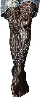 Springcmy Kids Little Girls Calze a Rete Collant Glitterati Calzini a Rete con Leggings Scintillanti Collant Scava Fuori