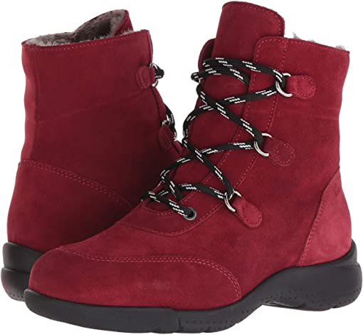 Red Suede/Shearling Lined