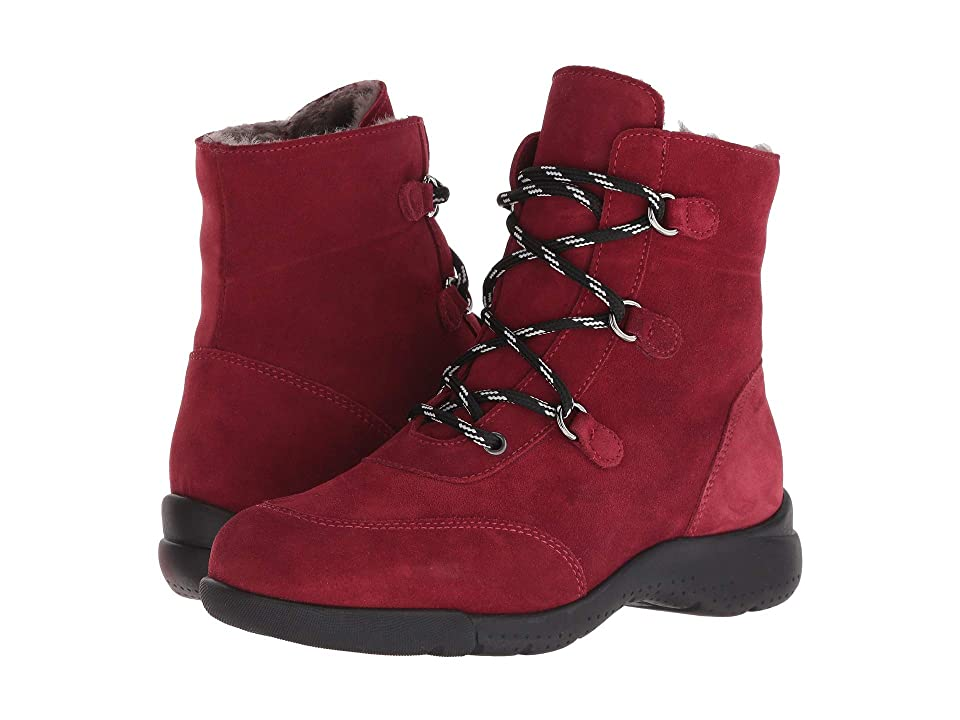 La Canadienne Nicole (Red Suede/Shearling Lined) Women