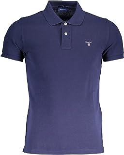 Pique SS Rugger SS Collar Men/'s Polo Shirt  Blue//pink XXL 2XL GANT Men/'s Polo