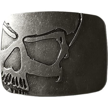 Xwest Hebilla de cinturón Vintage Skull Belt Buckle Cowboy Buckles
