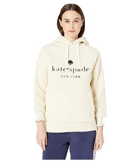 Kate Spade New York Athleisure Dashing Beauty Logo Sherpa Hoodie