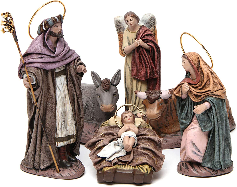 Holyart Nativity Scene in Terracotta Max Surprise price 42% OFF Pieces cm 14 6