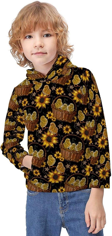 ODOKAY Boys Girls Trendy Pullover Hoodie Long Sleeve Printed Sweater for Unisex