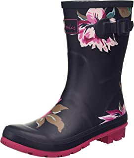 Joules Women's Wellington Rain Boot, Navy All Over Floral, 8 us