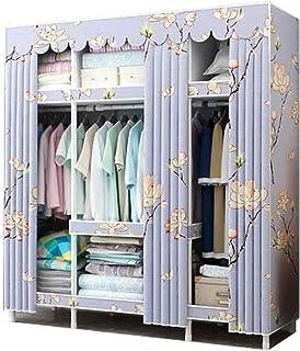 ZZYE Penderie Tissu Organisateur de vêtements, Placard de Rangement Suspendu vêtements durables armoires étanches Robustes...