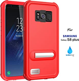 ASAKUKI Galaxy S8 Plus Waterproof Case - IP68 Certified Case, Full Body Protective, Shockproof, Scratch-Proof, Dustproof Case with Built-in Screen Protector for Samsung Galaxy S8 Plus - Red