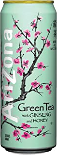 ARIZONA 827195 Green Tea with Ginseng & Honey 23 oz Can 24/Case