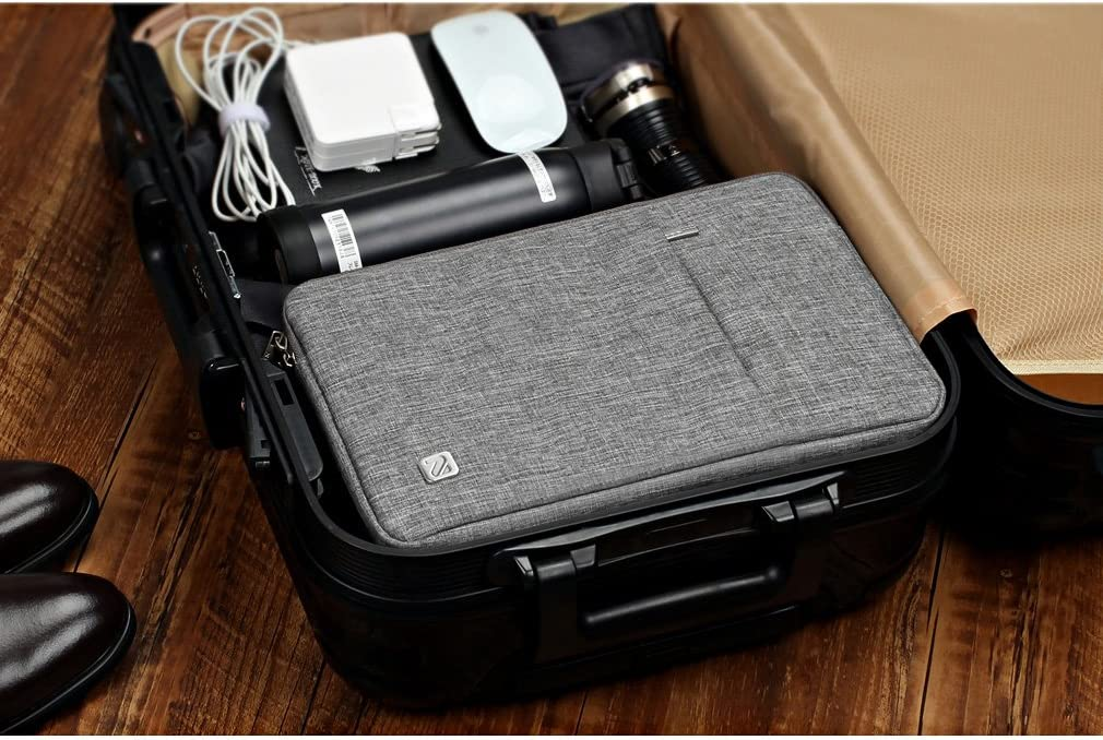 NIDOO 14 Inch Laptop Sleeve Water-Resistant Computer Case Portable Bag for 14 Notebook//Lenovo ThinkPad X1 Carbon//Flex 14 6//13.5 Surface Book//HP EliteBook//Huawei MateBook D//Acer//Dell Grey 4