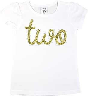 Gold Two Girls 2nd Birthday Shirt