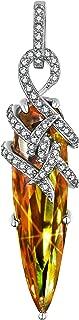 Alexandrite Necklace Pendant Unique Bullet Rock Pendant Color Change Gemstone Fine Jewelry Sterling Silver Cross Pendant Blue Opal Tree of Life Necklace Pendant