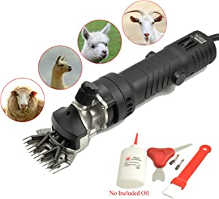 650W Electric Sheep Alpaca Goats Shears, 6 Adjustable Speed Shearing Clipper, Pet Grooming Trimmer - for Sheep Animal Livestock