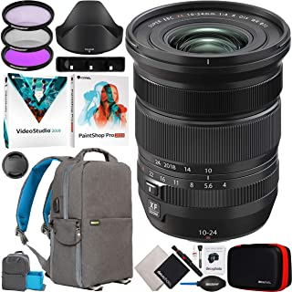 Fujinon XF 10-24mm F4 R OIS WR Ultra-Wide Angle Zoom Lens for X Series Mirrorless Digital Cameras 16666753 Bundle with Dec...