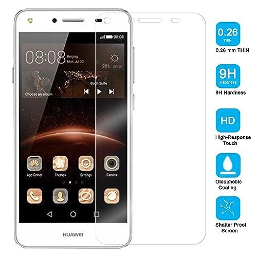 bdeals Huawei Y5 II Verre Trempé Protecteur d'écran Protection Résistant aux éraflures Glass Screen Protector Vitre Tempered
