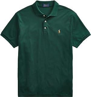 Ralph Lauren Polo Men Medium Fit Interlock Polo Shirt (M, ClgGreen)