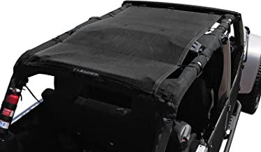 Alien Sunshade Jeep Wrangler Mesh Top Cover with 10 Year Warranty Provides UV Protection for Your 4-Door JKU (2007-2017) Original Black