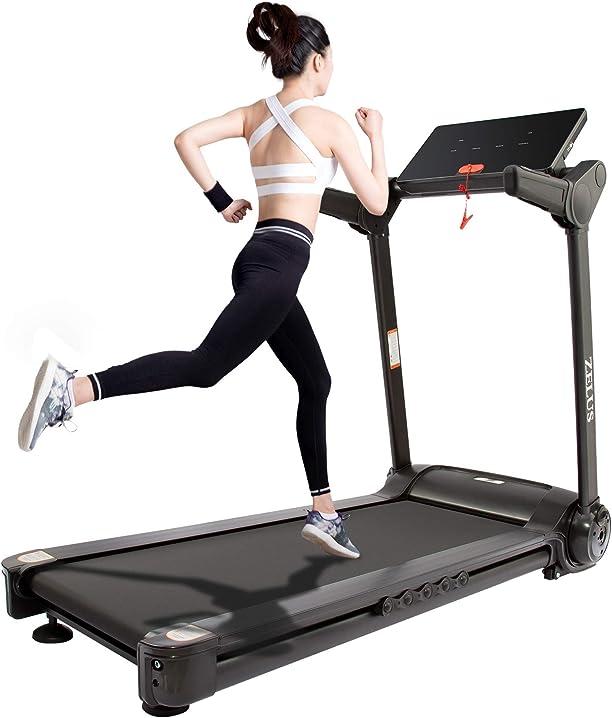 Tapis roulant pieghevole elettrico treadmill professionale velocità regolabile 12 programmi 14,8 km/h hiram B08KZHB1GN