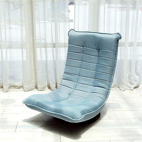 GHM Chaise de méditation Chaise de Plancher Pliable Portable en Plein air Camping Pique-Nique sans Jambes Baie fenêtre Chaise Unique canapé (Couleur   Lake bleu)