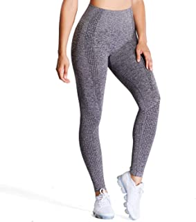 Aoxjox Women's High Waist Workout Gym Vital Seamless Leggings Yoga Pants