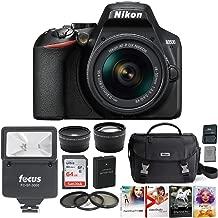 Nikon D3500 DSLR Camera with AF-P DX NIKKOR 18-55mm Lens (Black) -Bundle, 64GB Card, Case, Software Suite, Spare Battery and Accessory Bundle