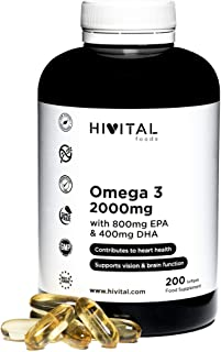 Omega 3 2000 mg | 200 cápsulas para más