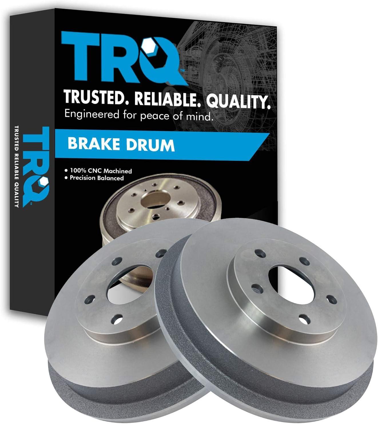 TRQ Rear Brake Drum Pair Set 199 for Trust Subaru Forester Max 53% OFF 1998-2008