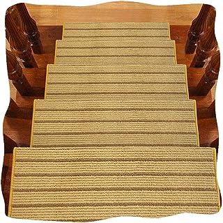 JIAJUAN Stair Carpet Treads Thicken Non-Slip Rectangle Step Mats Hard Floor Staircase Modern, 14mm, 4 Styles, 5 Sizes, Cus...