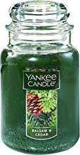Yankee Candle Balsam & Cedar Large Jar Candle,Fresh Scent