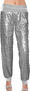 Ooh la la Plus or Reg Sequin Pant w Velvet Straight Leg...