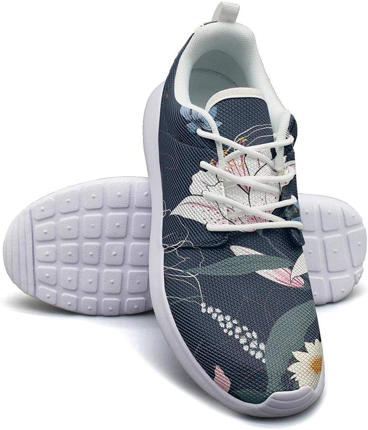 CHALi99 Fashion Female Youth Lightweight Mesh shoes Tropical Floral Lily Sneakers Walking Quick Dry