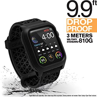 Catalyst Apple Watch Series 4 Impact Case 40mm ECG and EKG Compatible, with Catalyst's Superior Sport Band Rugged iWatch Protective Case, Drop Proof Shock Proof Apple Watch Case, Stealth Black